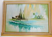 Yellow Seascape - Jeakins Oil Painting