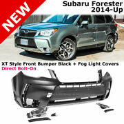 For 14-18 Subaru Forester   Xt Style Front Bumper Cover + Fog Light Covers