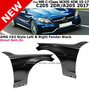 For 15-17 Mb C-class W205   4dr Sedan Amg Style Fender Guard Panel Sport Package