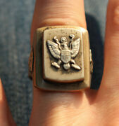 Vintage Mexican Biker Ring United States Army Military Usa Size 9 Motorcycle