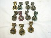 Lot Antique Feather Tree Tin Candle Holder Clips Christmas Ornaments G