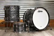 Ludwig Classic Maple 3pc 22/12/16 Drum Set Vintage Black Oyster