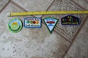 Lot Of 4 Girl Scouts Fun Patches Pizza Party Love Dance Earth Day Scout Sunday