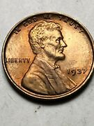 1937 Bu Wheat Penny Lincoln Cent Gem Coin From Obw Coin Rolls Lot V65