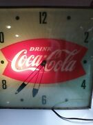 Vintage Pam Drink Coca-cola Lighted Wall Clock 15 X 15 Works Great