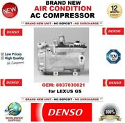 Denso Air Conditioning Ac Compressor Oem 8837030021 For Lexus Gs Brand New Unit