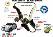 For Jeep Patriot 2.4 2006-2014 Timing Chain Tensioner Kit + Oil Pump Chain Kit