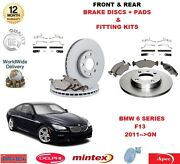 For Bmw 640i 640d Gran Coupe F13 Front And Rear Brake Discs + Pads + Fitting Kit
