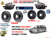 For Golf Mkiv 3.2 R32 02-04 Front And Rear Performance Brake Discs Set + Pads Kit