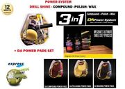 Meguiars G3500 Da Power System Drill Activated Polishing Waxing Compound + 6 Pad