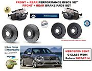 For Mercedes C180 C200 W204 2007- Front Rear Performance Brake Discs + Pads Kit