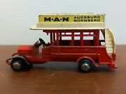 Schuco Man Double Decker Old Timer Bus 1960and039s Tour Mobile Omnibus Continental