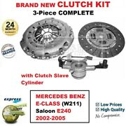 For Mercedes Benz E-class W211 E240 2002-2005 Brand New 3pc Clutch Kit And Csc