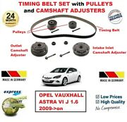 For Opel Vauxhall Astra Vi J 1.6 2009-on Timing Belt Set + Camshaft Adjusters
