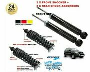 For Mercedes Ml230 1998- 2x Front + 2x Rear Shock Absorber Coil Spring + Mounts