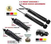 For Mercedes Ml 1998- 2x Front + 2x Rear Shock Absorber Leg Coil Spring + Mount