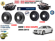 For Bmw 335i E92 Coupe 05-13 Front And Rear Performance Brake Disc Set + Pads Kit