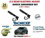 For Vw Tiguan 2007- New 2x Rear Axle Electric Adjust Shock Absorber Set