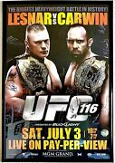 Ufc 116 Official 2010 Auto 49/125 Event Poster 26x40 Brock Lesnar Vs Carwin 🔥🔥