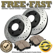 H0152 Front Premium Black Brake Rotors Pads For 2002 2003 Toyota Camry 4cylinder