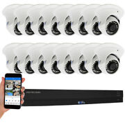 16 Channel H.265+ Dvr 16 4k Waterproof Analog Dome Security Camera System 2tb