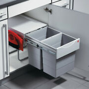 Hailo Double Waste Bin Pull-out Hailo Space-saver Tandem With Dust Pan And Brush