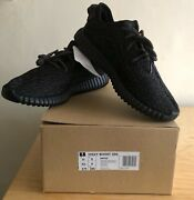 Adidas X Kanye West-yeezy Boost 350 Pirate Black 2016 Release Uk9 100authentic