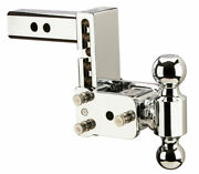 Bandw Tow And Stow Adjustable Trailer Hitch Ball Mount Chrome Ts10037c
