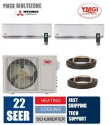 Ymgi 24000 Btu Two Zone Ductless Mini Split Ductless Air Conditioner Wall Indoor