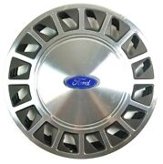 Ford Hubcap Stainless Steel 15.5 In Old Hub Cap Wheel Cover Auto Garage Bar