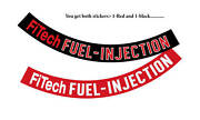 Air Cleaner Ribbon Decal Andbull Fitech Fuel-injection Andbull You Get 1 Red And 1 Black