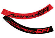 Air Cleaner Ribbon Decal • Holley Sniper Efi • You Get 1 Red And 1 Black
