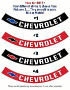 Chevrolet Andbull Air Cleaner Decals / Ribbons Andbull Your Choice - Pick Any 2