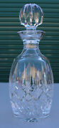 Waterford Crystal Wine Ships Decanter And Stopper Vase Glass Bottle Lismore