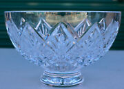 Waterford Crystal Glass Footed Bowl Centerpiece Lismore Flower Cut 8