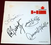 1972 Summit Series Team Canada Russia Signed Game Program Mikita Gilbert Dionne