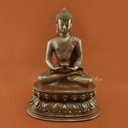 Fine Quality Hand Carved Amitabha Buddha / Opame Copper Statue From Patan Nepal