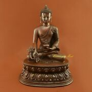 Fine Quality Hand Carved Medicine Buddha / Menla Copper Statue From Patan Nepal