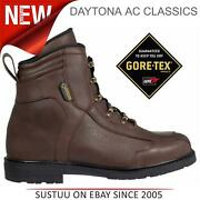 Daytona Ac Classics Menand039s Gore-tex Leather Motorcycle/bike Boots│brown│all Sizes