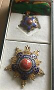 1953 Egypt Military Order Of The Republic Grand Cross Set In Case Badge Medal