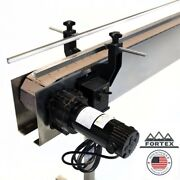 Fortex Stainless Steel 4and039 X 4.5andrdquo Inline Packaging Conveyor With Table Top Belt
