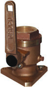 Groco Bv-2500 Bronze Full-flow 2-1/2 Flanged Ball-type Seacock Boat Marine Md