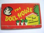 1950's The Doll House George And Ethel Strebe Palm Springs Ca Full 40 St Matchbook