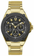 Watch Man Guess Watches Gents Legacy W1305g2 Of Stainless Steel Gold Tone