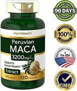 Maca Root 3200 Mg Super Concentrated Extract Optimal Absorption 120 Capsules