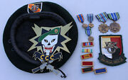 Us Special Forces Vietnam Ccc Military Lot Hat Beret Plaque Medals Patch 3rd 5th
