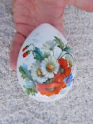 Incredible Imperial Russian 19th Century Flowers Porcelain Signed Easter Egg