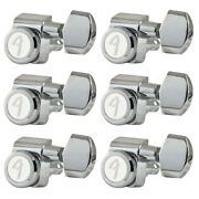 Fender Locking Tuners Stratocaster Telecaster 6 In Line Guitar Polished Chrome