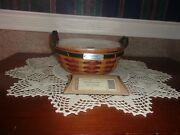 Longaberger 2005 Inaugural Basket Set With Lid And Tie-on