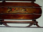 Vintage 1930's Mickey Mouse Flexible Flyer Sled No.90 - K